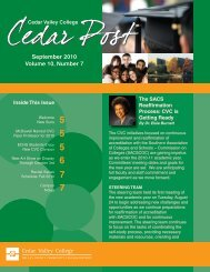 September 2010 Volume 10, Number 7 - Cedar Valley College