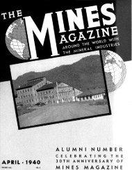 A L U M N I N U M B C E L E B R A T I N G ... - Mines Magazine