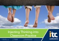 Injecting Thinking into Classroom Practice
