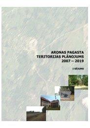 aronas pagasta teritorijas plānojums 2007 – 2019 - Madona.lv