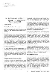 01. Hirtenbrief zur Vorbe- reitung des Oster festes – Fastenzeit 2008