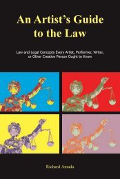 An Artist's Guide to the Law - Focus Publishing