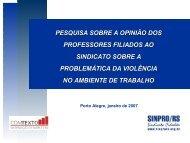 A problemática da violência no ambiente de trabalho - Sinpro/RS