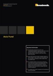 Asia Fund - Threadneedle - Investments