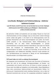 Lkw-Studie: Müdigkeit und Fehleinschätzung – tödlicher Gefahren ...