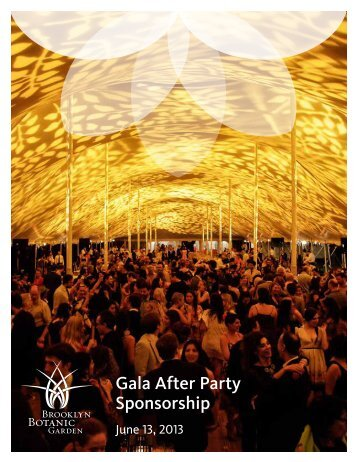 Gala After Party Sponsorship - Brooklyn Botanic Garden
