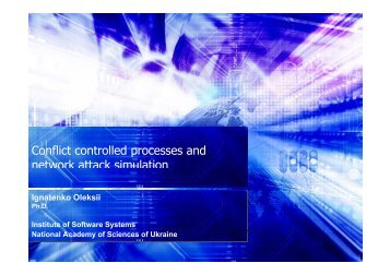 Conflict controlled processes and network attack simulation