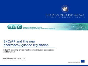 Interface between ENCePP and the new PhV legislation