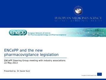 Interface between ENCePP and the new PhV legislation