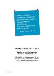 Opinto-opas 2011-2012, Muotoilu - Lahden ammattikorkeakoulu