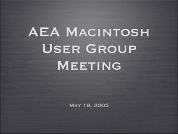Meeting Notes (pdf) - Aerospace Employees' Association