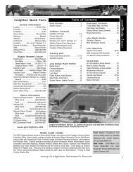 Table of Contents Creighton Quick Facts - Creighton University ...