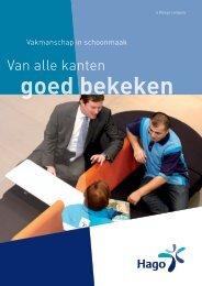Download de brochure - Schoonmaakbedrijf Hago