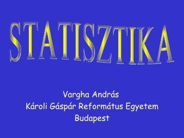 2012 – Matematikai statisztika 1. – Előadás