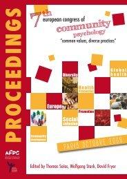 COUV ACTES - Psychologie communautaire