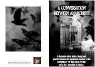 A CONVERSATION A CONVERSATION BETWEEN ANARCHISTS ...