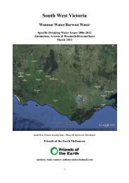 South West Victoria - Friends of the Earth Australia
