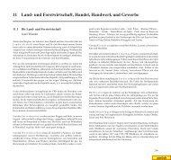 Kapitel 11: Land- und Forstwirtschaft, Handel, Handwerk und Gewerbe