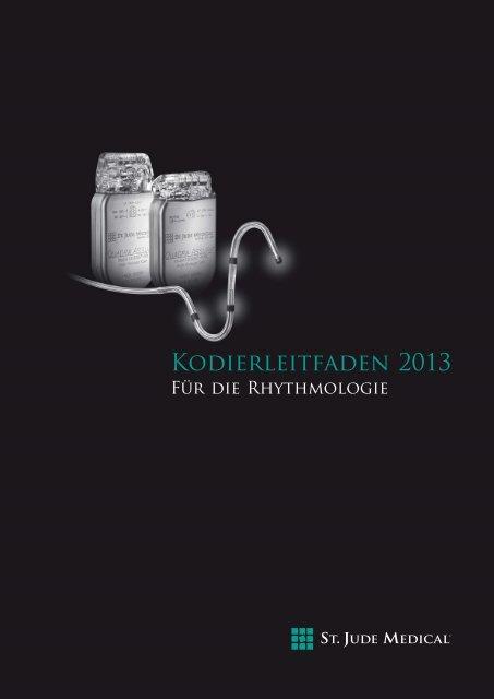 KODIERLEITFADEN 2013 - Für die Rhythmologie - St. Jude Medical