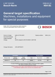 General target specification Machines, installations and equipment ...