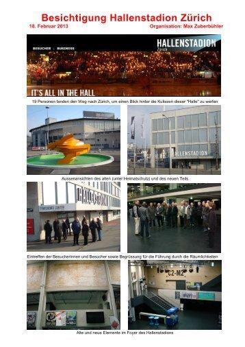 Hallenstadion Zürich, 18. Februar 2013
