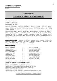 Conseil municipal du 1er octobre 2012 - Deuil-la-Barre