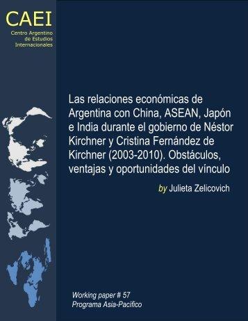 Las relaciones económicas de Argentina con China, ASEAN, Japón ...