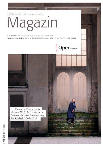 Opernmagazin März / April 2011 - Oper Frankfurt