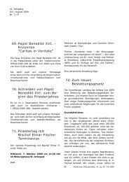Feldkircher Diözesanblatt, Ausgabe Juli/August 2009