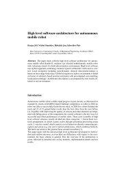 High level software architecture for autonomous mobile robot