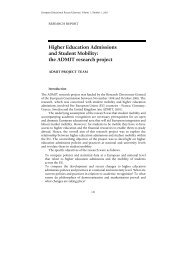 Higher Education Admissions and Student Mobility: the ADMIT ...