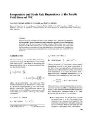 Temperature and strain rate dependence of the tensile yield stress ...