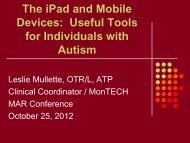 iPad and iPod apps for Autism - MonTECH