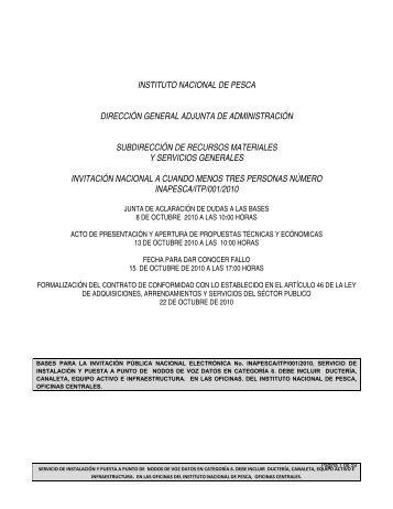 INSTITUTO NACIONAL DE PESCA DIRECCIÓN ... - Inapesca