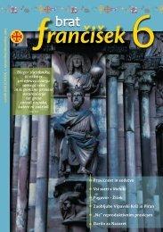 Urednikova beseda bf 6/2012 - Frančiškani v Sloveniji