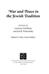War and Peace in the Jewish Tradition - YU Torah Online