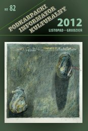 listopad – grudzień Nr 82 - Wojewódzki Dom Kultury w Rzeszowie