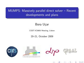 MUMPS: Massively parallel direct solver ... - ComplexHPC.org