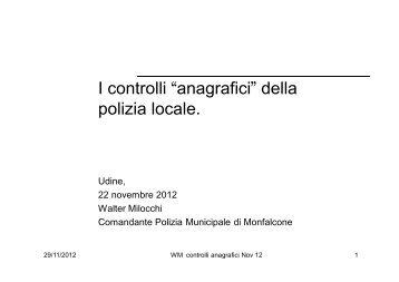 """I controlli """"anagrafici"""" della polizia locale. - Sistema delle autonomie ..."""