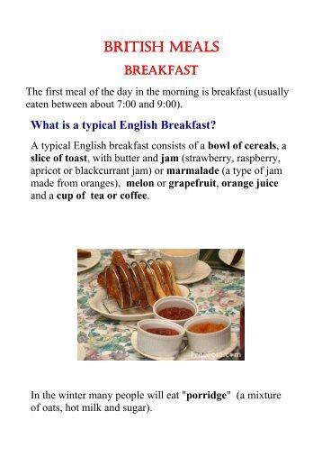 Lesson plan 5 british foodpdf handsonprimaryclil 1 british meals foodpdf handsonprimaryclil forumfinder Gallery