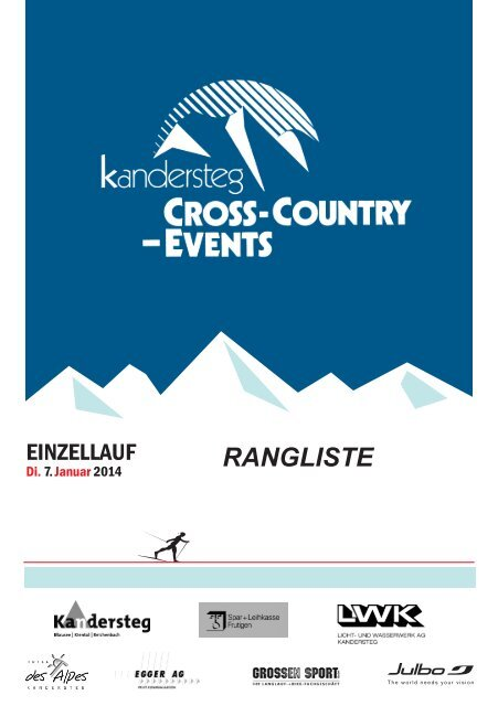 Rangliste Einzelrennen - Cross Country Events Kandersteg