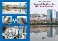 Research Institute for Microbial Diseases (Apr ... - Osaka University