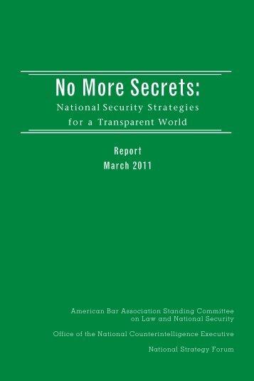 No More Secrets: