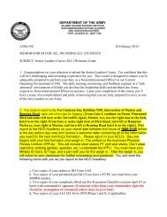 Department of the Army Personnel Policy Guidance for