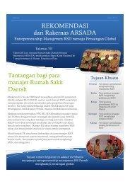 Rekomendasi dari Rakernas ARSADA - Manajemen Rumah Sakit ...