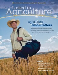 Fall 2011 - College of Agriculture - Montana State University