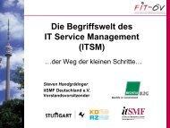 Die Begriffswelt des ITSM - FIT-öV