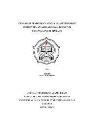 pengaruh Pendidikan Agama Islam terhadap pembentukan ... - idb4