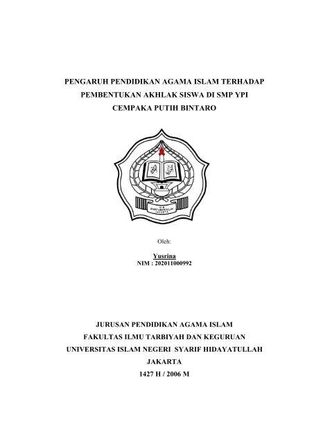 Pengaruh Pendidikan Agama Islam Terhadap Pembentukan Idb4