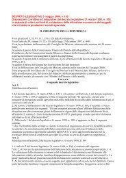 D.lgs 130/2000 - Comune di Montale